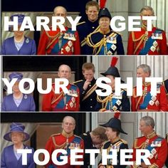 Love him queen elizabeth, royal families, prince harry, funny guys, princ harri, funni, british royals, the queen, royal weddings