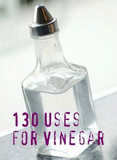 vinegar- a home's best friend, really.