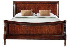Reverie Cherry Sleigh Bed