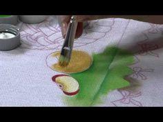 Pintura em tecido por Fátima Hespanholeto . Parte 1/2 Torta de maçã