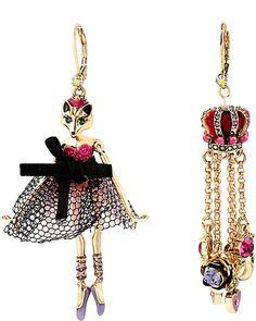 IMPERIAL GIRL CROWN MISMATCH EARRING MULTI accessories jewelry earrings fashion