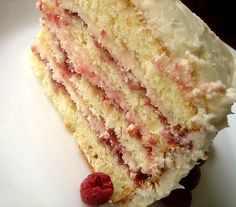 Perfect Party Cake. Must try this white cake recipe.