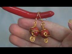 Orecchini Wire con Madrepora rossa | Perline per Principianti - HobbyPerline.com - YouTube