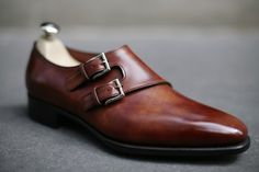 beautiful brown monk strap shoe