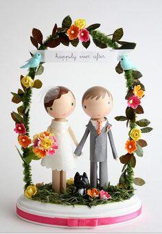 Cute wedding topper
