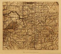 Map Of Nez Perce Territory