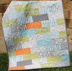 Backyard Baby Baby Boy Quilt by SunnysideDesigns2 on Etsy, $148.00