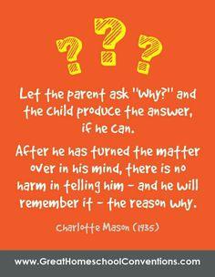 Charlotte Mason was so wise.