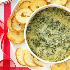 Baked Creamy Spinach Dip Recipe from Taste of Home -- shared by Jenn Tidwell of Fair Oaks, California