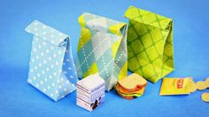 My Froggy Stuff: What's for Lunch? Dollhouse Lunch Bags with Sandwi...
