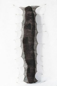 Mo Kelman | Things Still Here, No. 6, 1991 | shibori dyed and shaped silk, paper, india ink, cotton cord