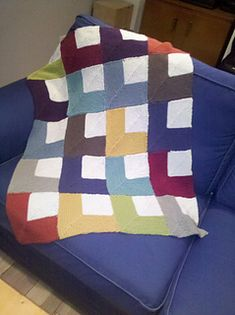 Mitered Squares Throw pattern by Jean Adel