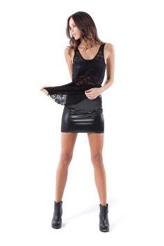 Wet Look 2.0 Skirt by Black Milk Clothing