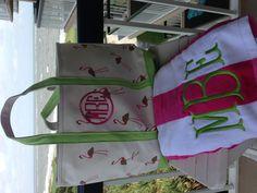 Pink & green plus flamingos = preppy fun  http://www.themonogrammerchant.com/item.php?item_id=9554