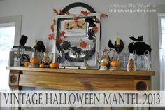 Minerva's Garden:  Vintage Halloween Mantel 2013