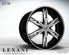 Lexani Wheels, the leader in custom luxury wheels. Wheel Detail - LX-30, part of the LX series.