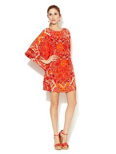 Graciella Flutter Sleeve Silk Dress by Trina Turk on Gilt.com