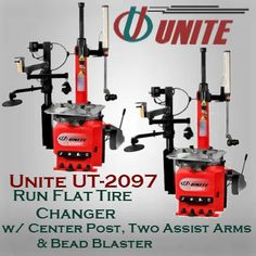 Run Flat Tire Changer w/ Center Post, Two Assist Arms & Bead Blaster