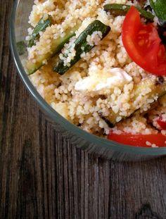 Cous cous con tonno, scalogno e zucchine    COUS COUS WITH TUNA, SHALLOT AND ZUCCHINI