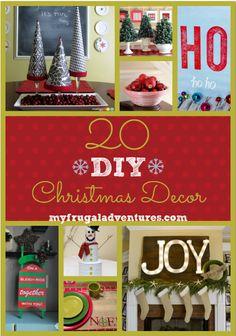 DIY Christmas decor- 20 fun ideas!