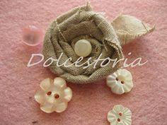 foto-tutorial fiori di stoffa
