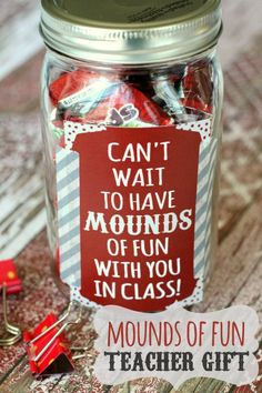 Mounds of Fun Teacher Gift Idea