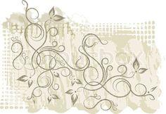 Vector of 'swirl, tattoo, corner'