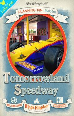 Walt Disney World Planning Pins: Tomorrowland Speedway