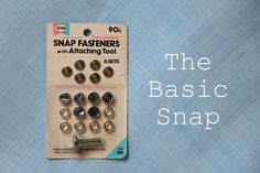 Attaching snaps