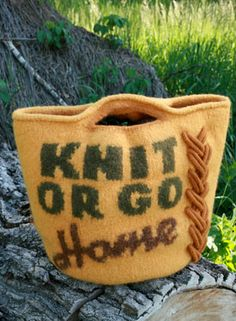 4. Favorite summer activity: Knitting! So, Knit or Go Home (Bag)