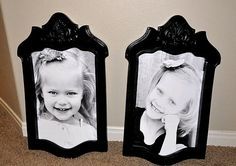 old chair backs fashioned into frames