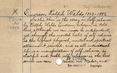 Library Catalog Cards For Classic Books (IMAGES)