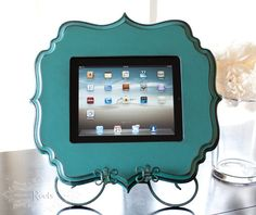 iPad stand. Cute and useful for kitchen counter.