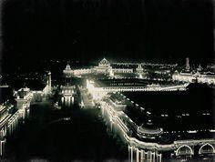 St. Louis World's Fair 1904 lit up at night