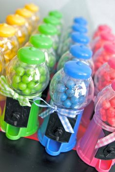 Rainbow Gumball Machines