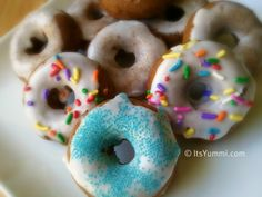 Spiced Apple Doughnuts (and fun topping ideas!) for National Doughnut Day!