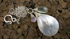 Mother Of Pearl Charm Necklace  Talia Serinese Jewelry  taliaserinese.etsy.com