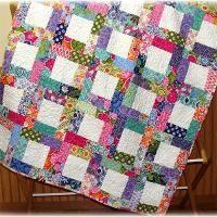 Woven strips quilt.