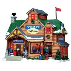 """Lemax 10"""" Porcelain Village Building Mountain High Outfitters ($36.99 Ace Hardware)"""