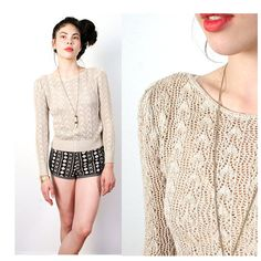 crochet oatmeal puff sleeve