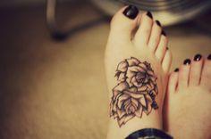 tattoo ideas, feet tattoos, foot tattoo, rose tattoos, tattoo patterns, flower tattoos, flowers, tattoo ink, black roses