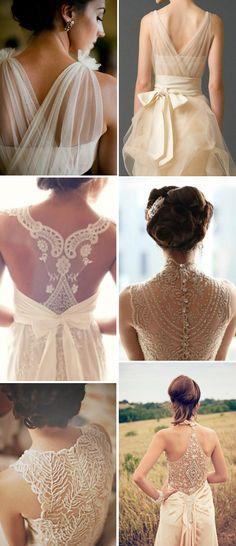 Vestidos de novia vintage con la espalda al aire