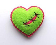 Zombie Heart Brooch by TheDollCityRocker on Etsy, $15.00