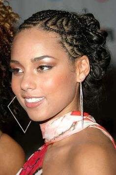 Pretty Braids on Alicia Keys