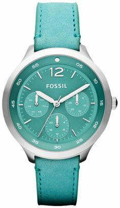 FOSSIL  Leather Watch - Aqua… al fin mio!!!