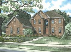 Spacious 5 bedroom Colonial style home.  Colonial House Plan # 151864.