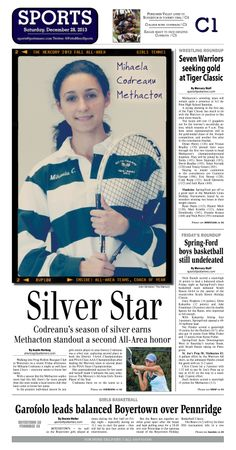 Methacton's girls tennis standout Mihaela Codreanu was named the 2013 Fall All Area Girls Tennis Player of the Year. http://www.gametimepa.com/mont-bucks-archives-gtennis/ci_24804262/girls-tennis-codreanus-season-silver-earns-methacton-standout