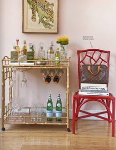 mini bars, dining rooms, designer purses, chair, designer handbags, beverage cart, bar carts, lv bags, designer bags