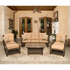Vermont Outdoor Deep Seating Set - 6 pc. - Sams Club $1599