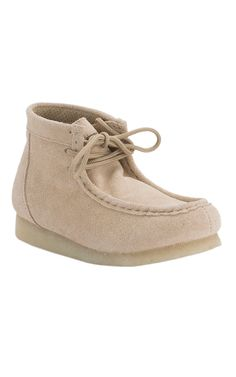 Roper Kids Tan Suede Lace Up Casual Shoe